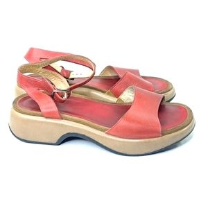 Dansko Red Sandals Size 39 AS IS FAIR CONDITION